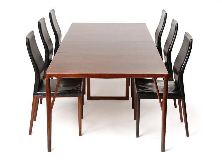 1950s Set of 8 Danish Dining Chairs by Vestergaard Jensen for Peder Pedersen For Sale 2