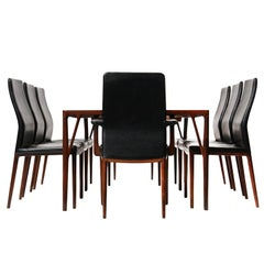 1950s Set of 8 Danish Dining Chairs by Vestergaard Jensen for Peder Pedersen