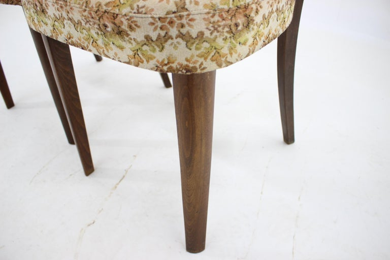 1950s Set of Four Dining Chairs, Czechoslovakia For Sale 4