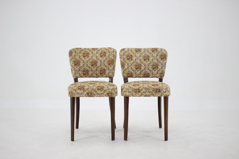 1950s Set of Four Dining Chairs, Czechoslovakia In Good Condition For Sale In Praha, CZ