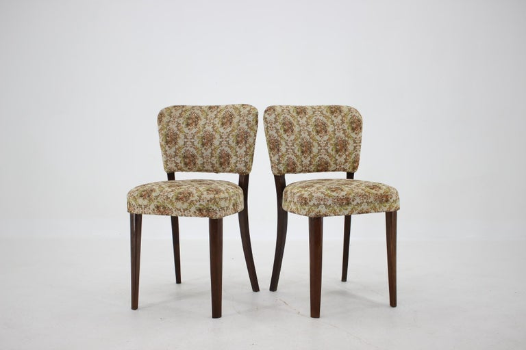 Mid-20th Century 1950s Set of Four Dining Chairs, Czechoslovakia For Sale