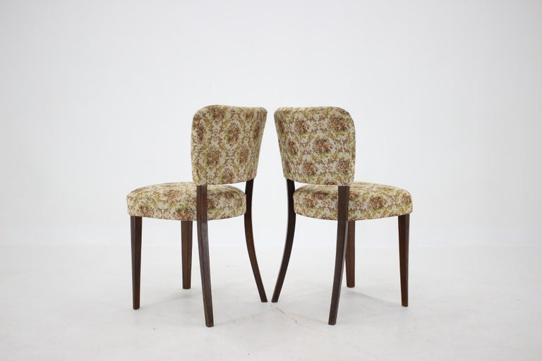 1950s Set of Four Dining Chairs, Czechoslovakia For Sale 1