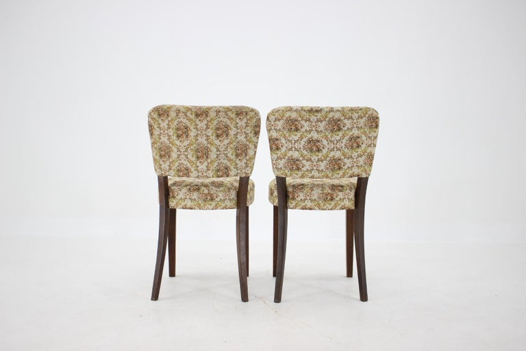 1950s Set of Four Dining Chairs, Czechoslovakia For Sale 2