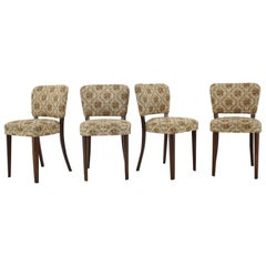 1950s Set of Four Dining Chairs, Czechoslovakia