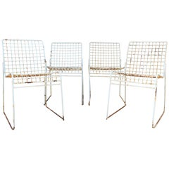 1950s Set of Four Italian Design Iron Chairs