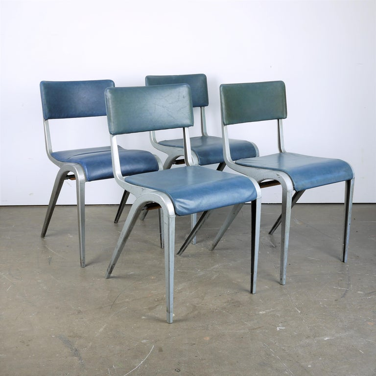 1950s Set of Four James Leonard Esavian ESA Dining/Side Upholstered Chairs For Sale 3