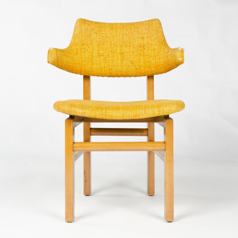 Mid-Century Modern 1950s Set of Four Model 675 Dining Chairs by Edward Wormley for Dunbar For Sale