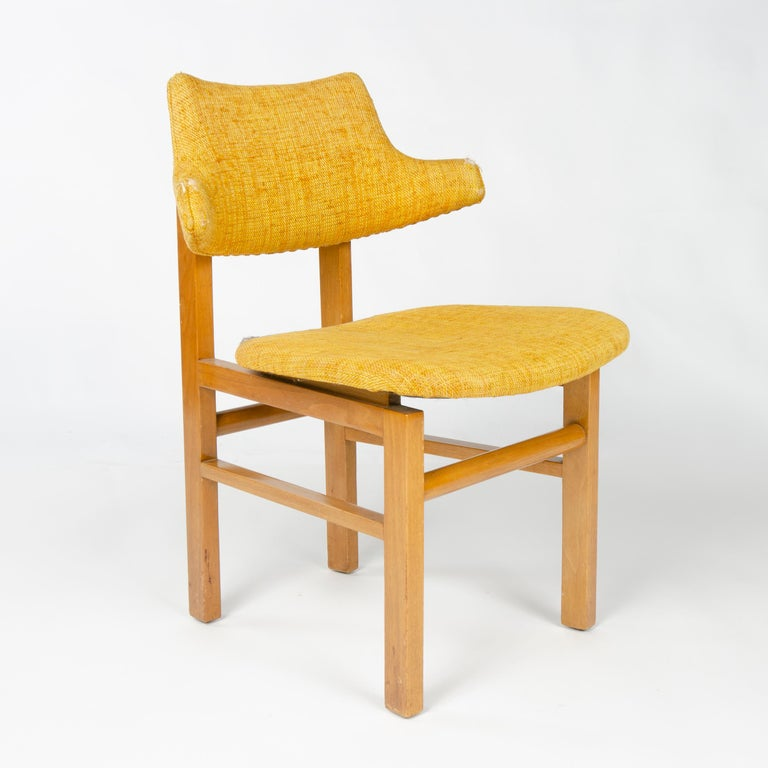 1950s Set of Four Model 675 Dining Chairs by Edward Wormley for Dunbar In Good Condition For Sale In Sagaponack, NY