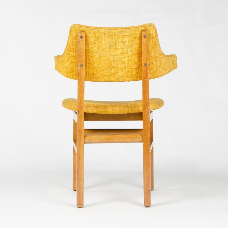 Upholstery 1950s Set of Four Model 675 Dining Chairs by Edward Wormley for Dunbar For Sale