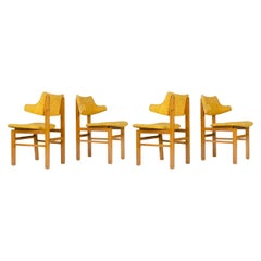 1950s Set of Four Model 675 Dining Chairs by Edward Wormley for Dunbar