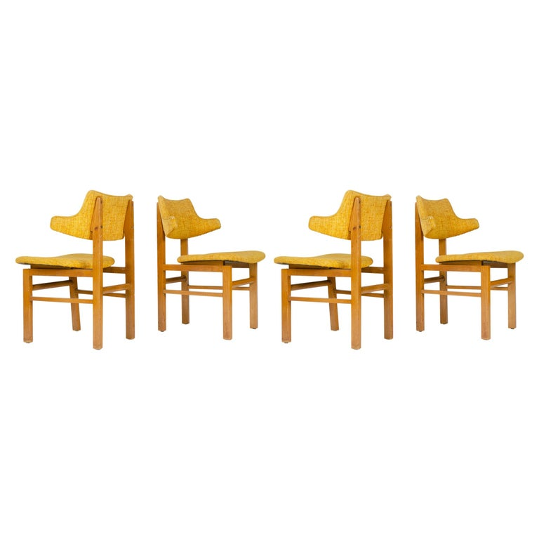 1950s Set of Four Model 675 Dining Chairs by Edward Wormley for Dunbar For Sale