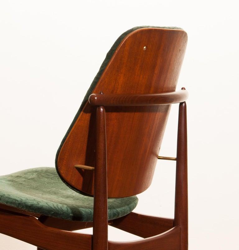 1950s, Set of Four Teak Dining Chairs by Arne Vodder for France & Daverkosen 1