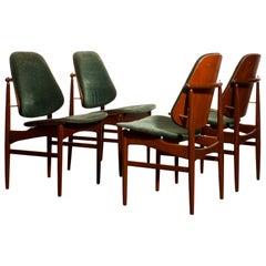 1950s, Set of Four Teak Dining Chairs by Arne Vodder for France & Daverkosen