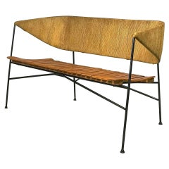 Mid Century Modern Settee or Bench by Arthur Umanoff for Shaver Howard