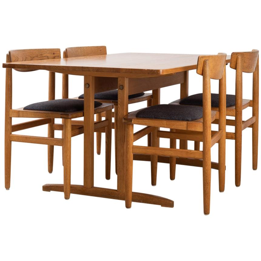 1950s Shaker Style Dining Set In Oak By Börje Mogensen