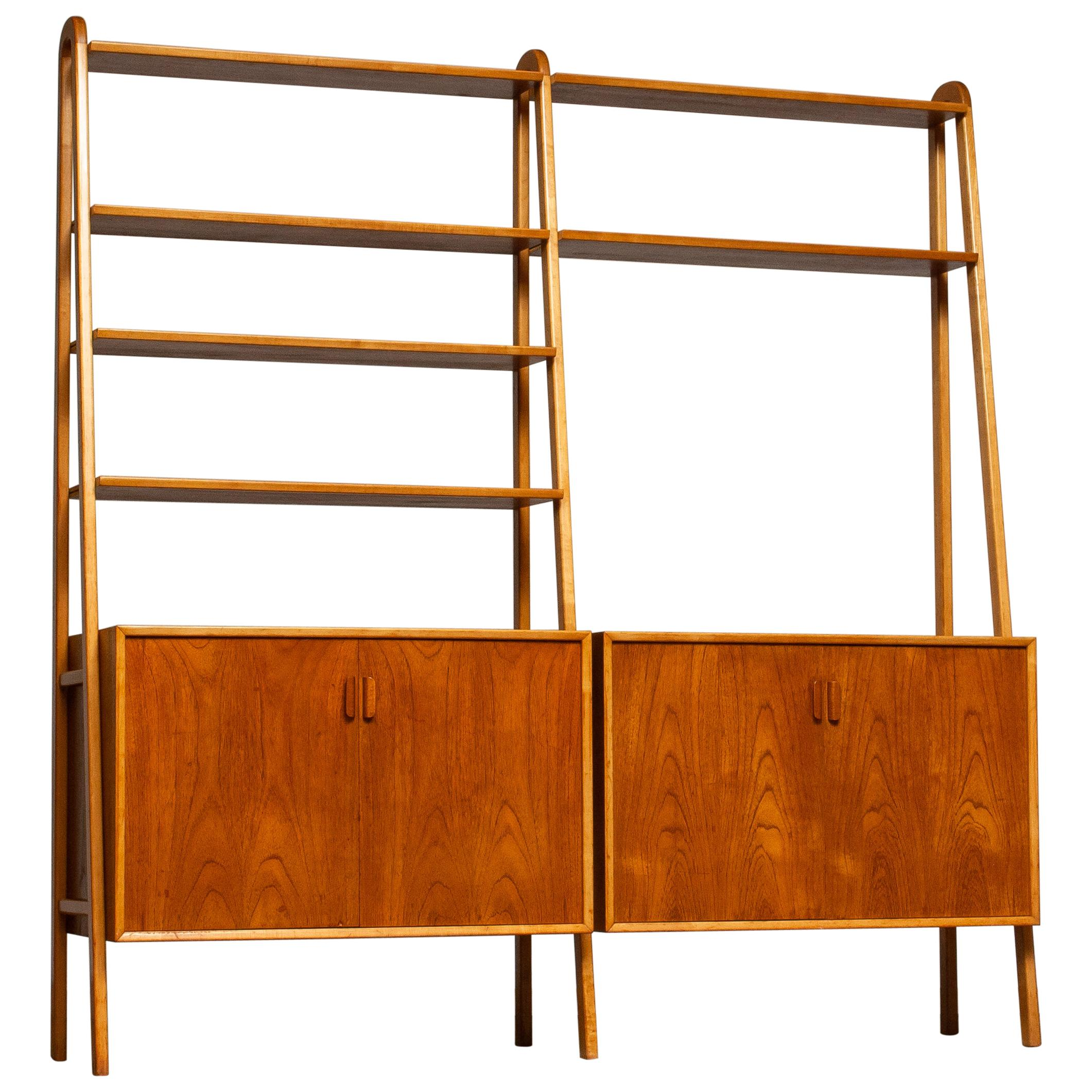 1950s Shelfs / Bookcase / Sideboard in Teak and Beech by Brantorps, Sweden