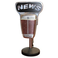 1950s Shure Model 51 Dynamic Microphone with News Topper