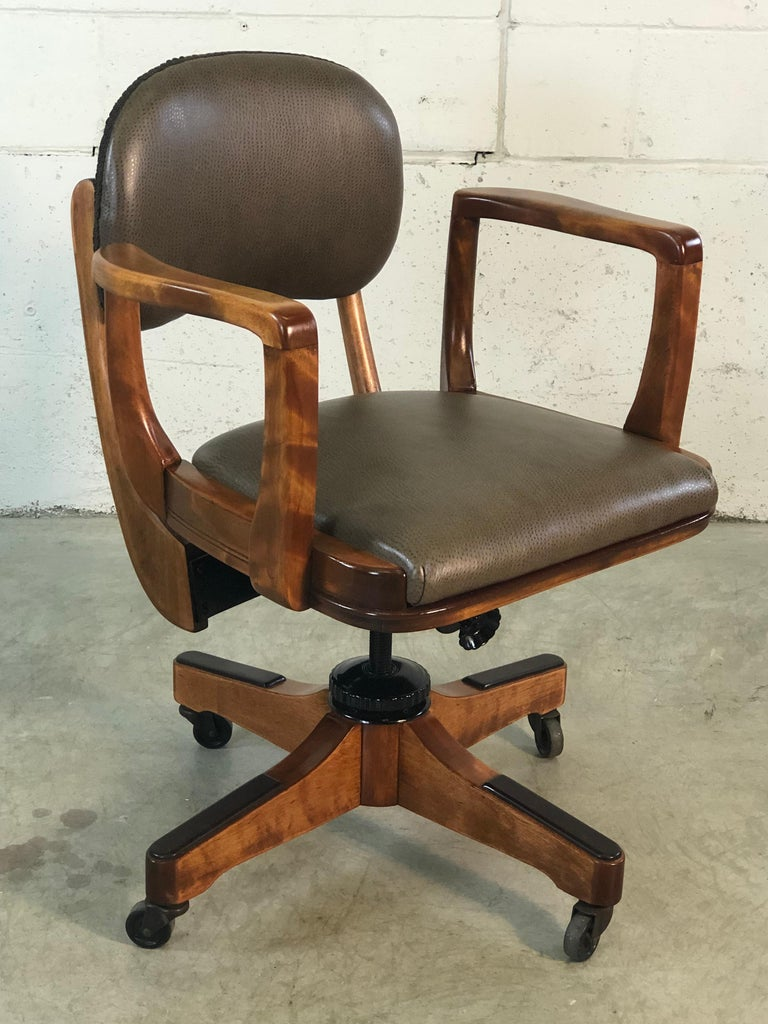 1950s Sikes Co Swivel Office Chair