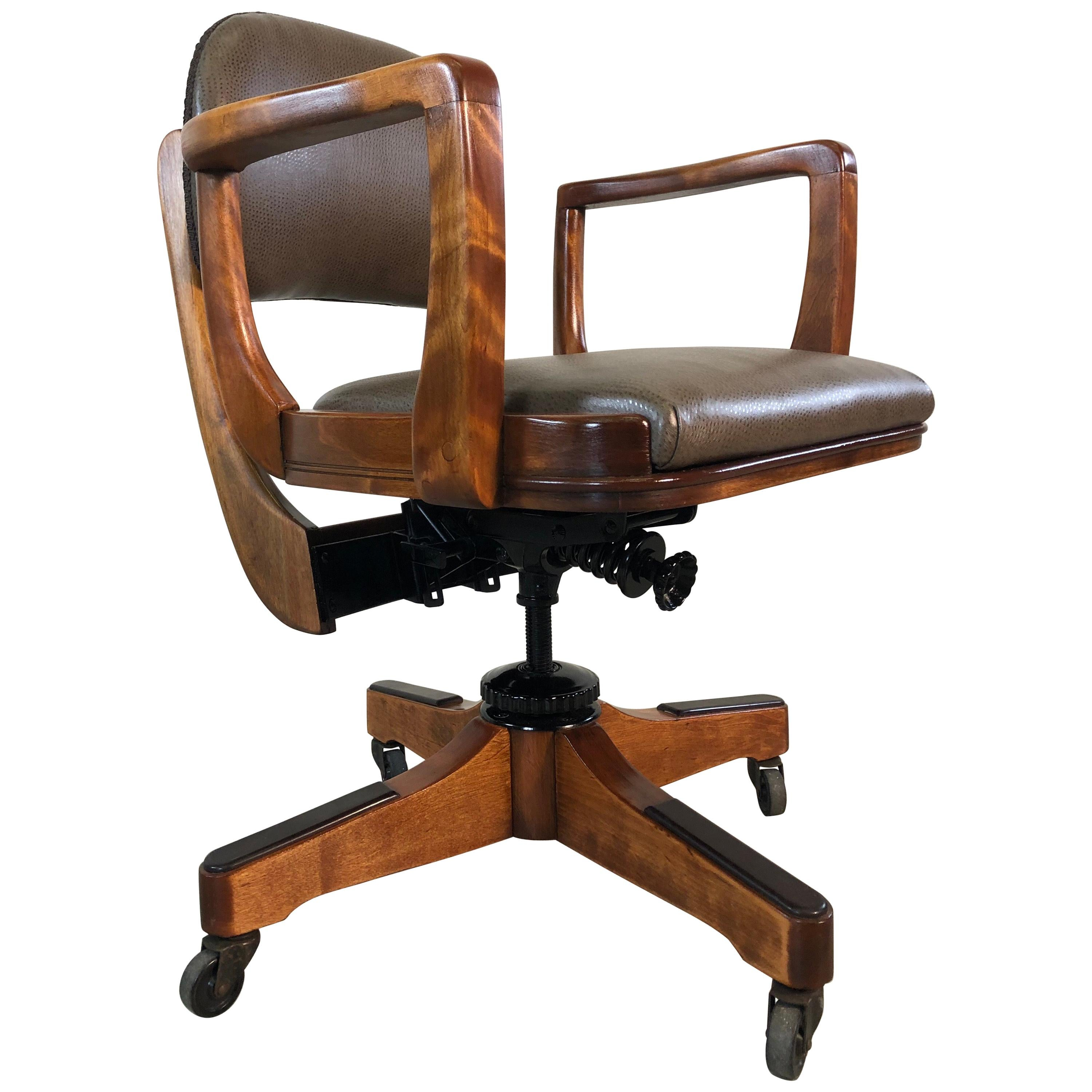 Peachy 1950S Sikes Co Swivel Office Chair For Sale At 1Stdibs Machost Co Dining Chair Design Ideas Machostcouk