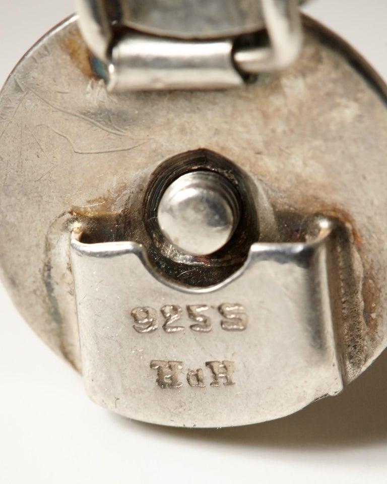 1950s Silver Scandinavian Modern Bracelet, Designed by Hans Hansen, Denmark For Sale 1