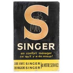 1950s Singer Advertising Dealer Display Sign