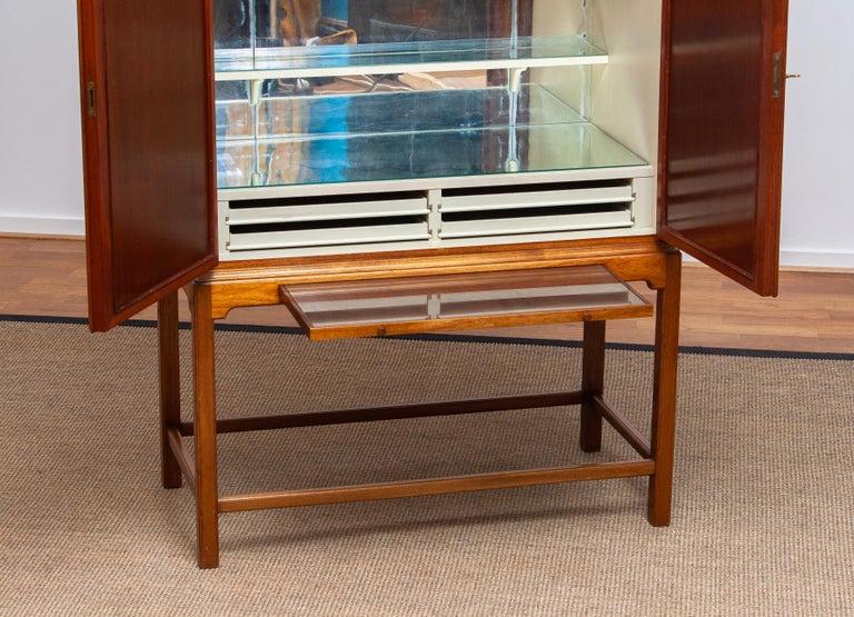 1950s, Slim Scandinavian Midcentury Mahogany Dry Bar / Luxury Cabinet 2
