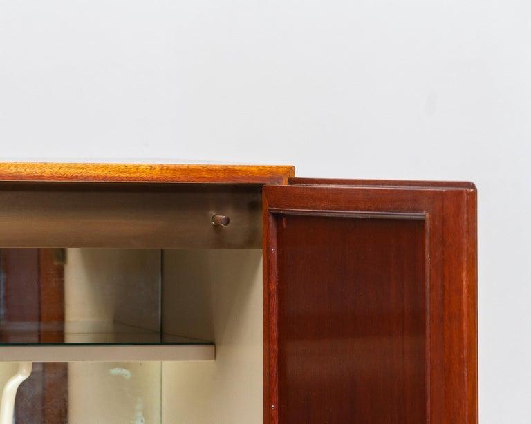 1950s, Slim Scandinavian Midcentury Mahogany Dry Bar / Luxury Cabinet 3