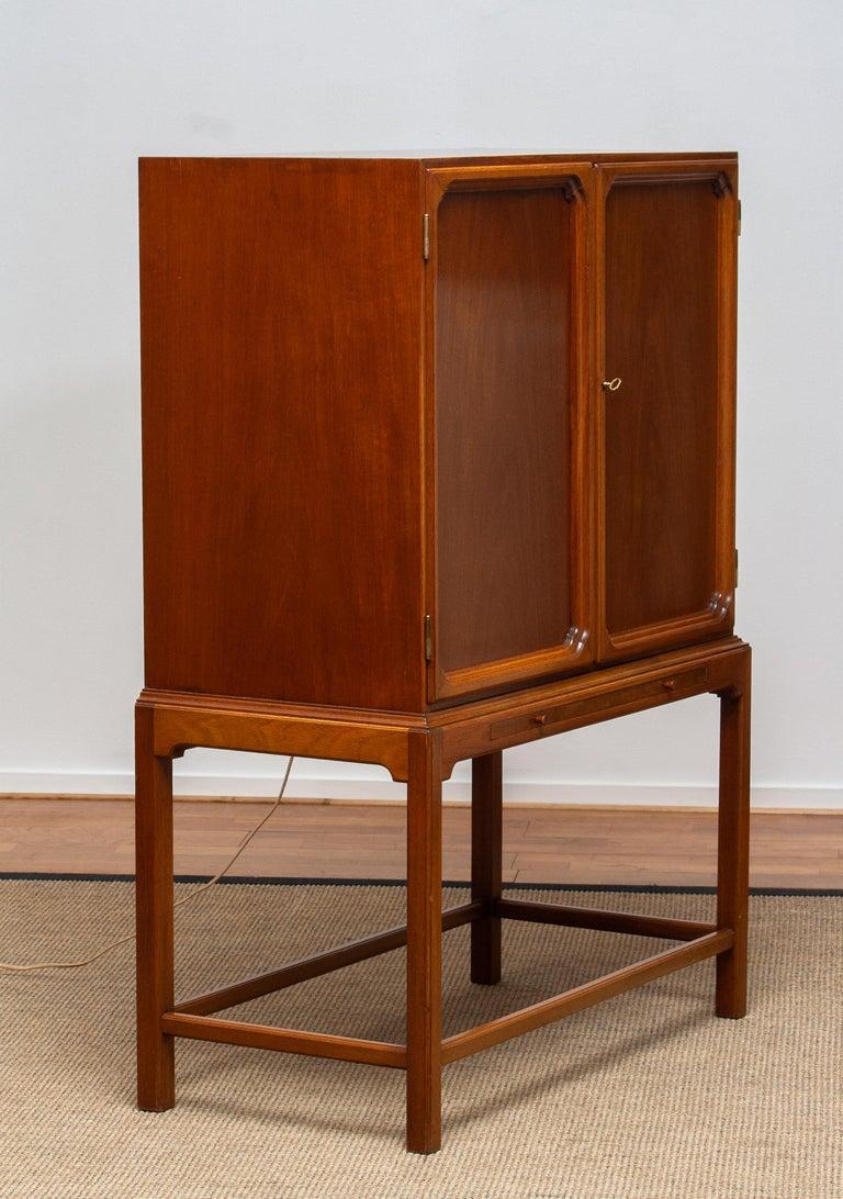 1950s, Slim Scandinavian Midcentury Mahogany Dry Bar / Luxury Cabinet 5