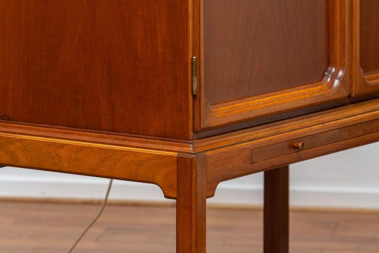 1950s, Slim Scandinavian Midcentury Mahogany Dry Bar / Luxury Cabinet 6
