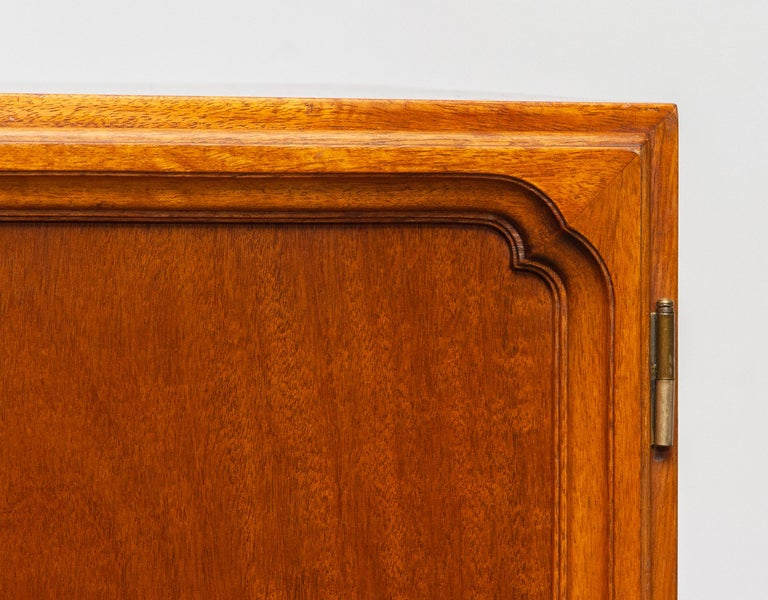 Swedish 1950s, Slim Scandinavian Midcentury Mahogany Dry Bar / Luxury Cabinet