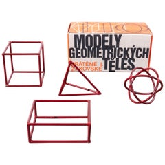 1950s Small Geometric Model Set, New Old Stock