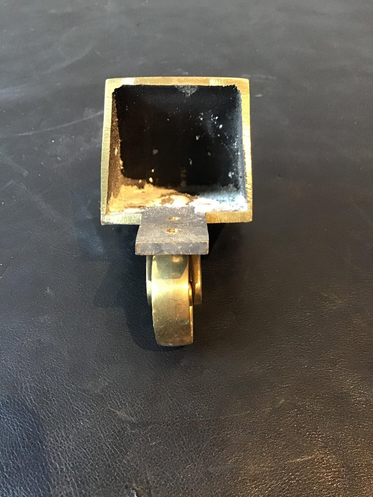 1950s Solid Brass Lion Paw Casters For Sale 4