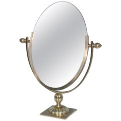 1950s Solid Brass Vanity Mirror