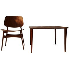 1950s Solid Teak Coffee Table by Peter Hvidt for France & Daverkosen