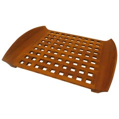 1950s Solid Teak Danish Modern Rare Large Tray Designed by Quistgaard for Dansk