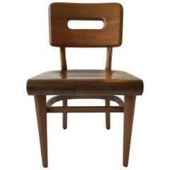 1950s Solid Wood Desk Chair