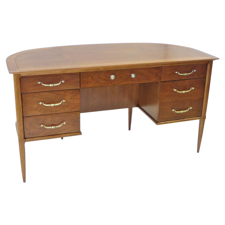 1950s Sophisticates Walnut Desk by John Lubberts & Lambert Mulder for Tomlinson For Sale