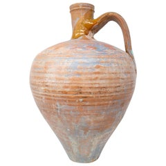 1950s Spanish Andalusian Handmade Terracotta Brown Vase