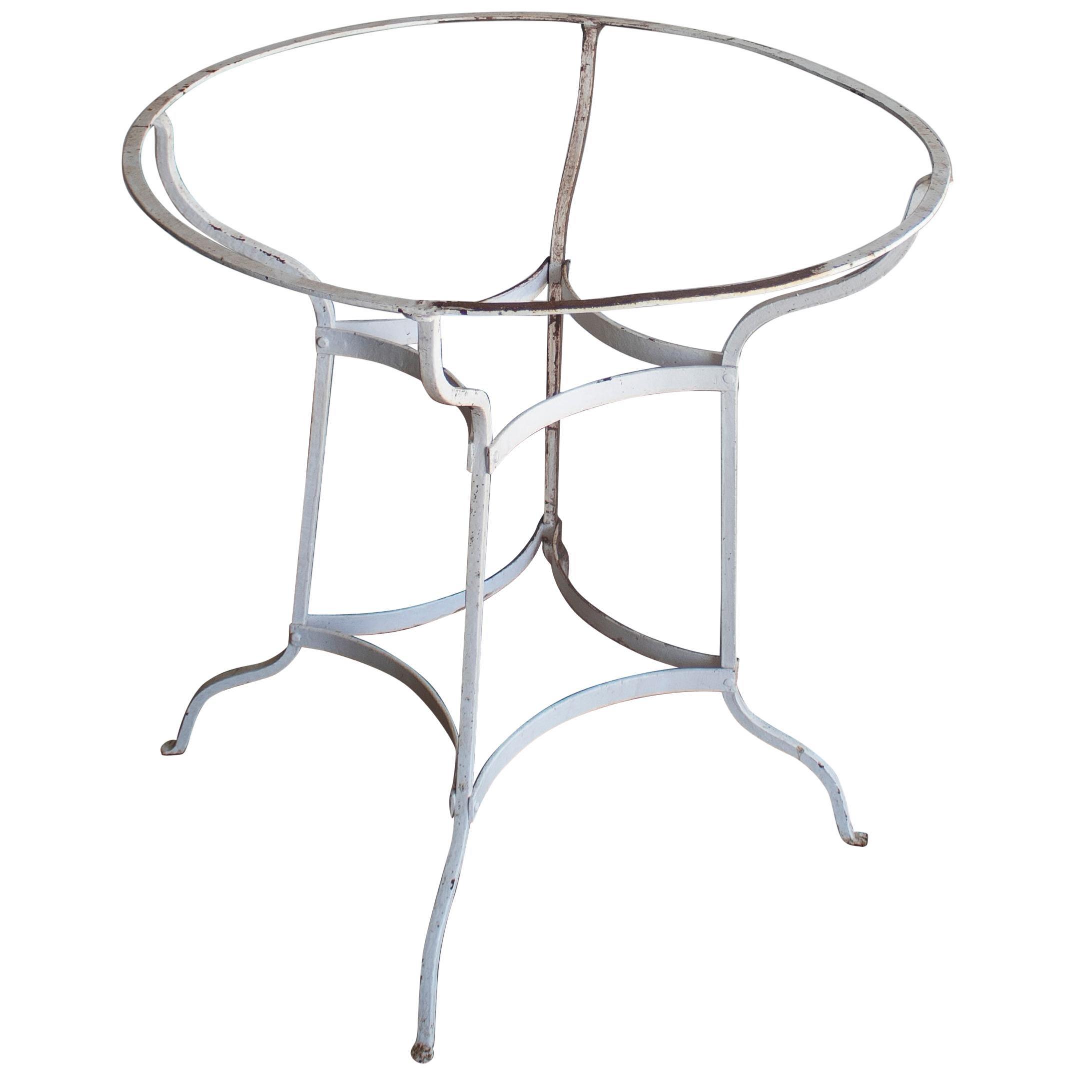 1950s Spanish Iron Garden Table Base