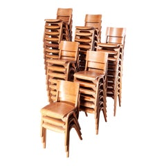 1950s Stacking Dining Chairs by ESA James Leonard, Lamstak