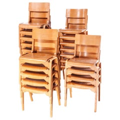 1950s Stacking Dining Chairs Made by Tecta Designed by Stafford