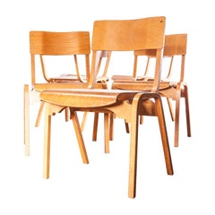 1950s Stacking Dining Chairs Made by Tecta Designed by Stafford, Set of Six