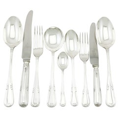 1950s Sterling Silver Canteen of Cutlery for Six Persons