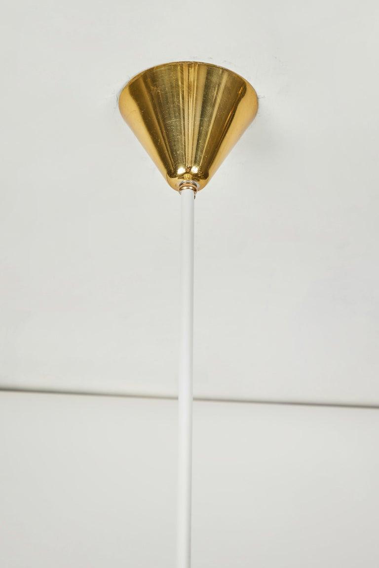 1950s Stilnovo Glass and Brass Pendant For Sale 2
