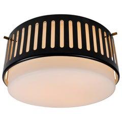 1950s Stilnovo Glass and Metal Ceiling Lamp by Bruno Gatta