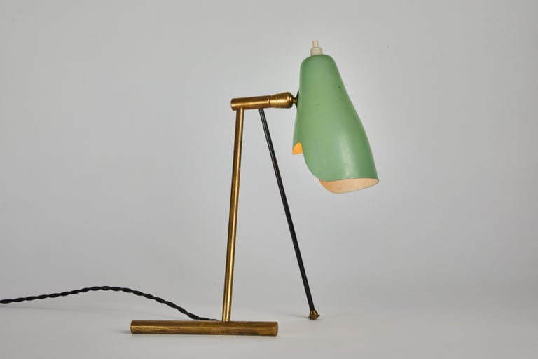 Painted 1950s Stilnovo Wall or Table Lamp For Sale