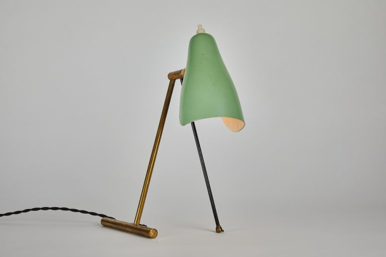 Metal 1950s Stilnovo Wall or Table Lamp For Sale