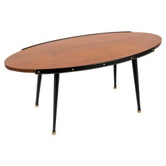 1950's Stitched Leather Cocktail Table by Jacques Adnet