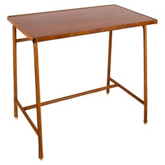 1950's Stitched Leather Table by Jacques Adnet