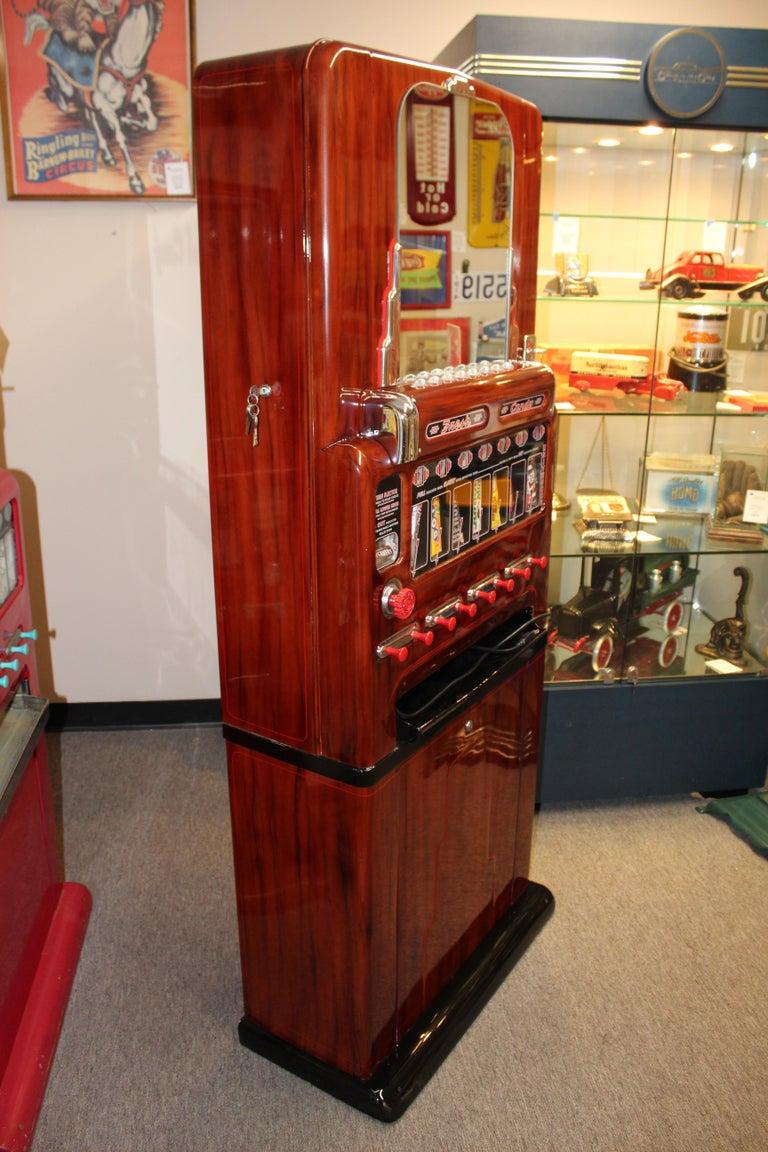 American 1950s Stoner Univendor Theater Candy Eight Pull Dispenser Vending Machine For Sale